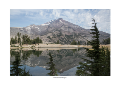 Mountain reflected in a clear lake