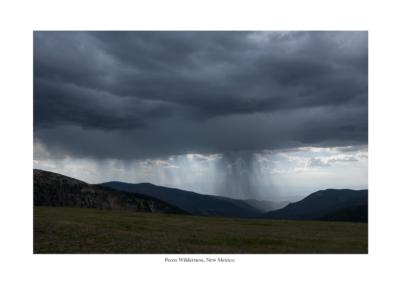 rainstorm in a grassy field