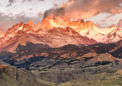 photo of jagged mountains