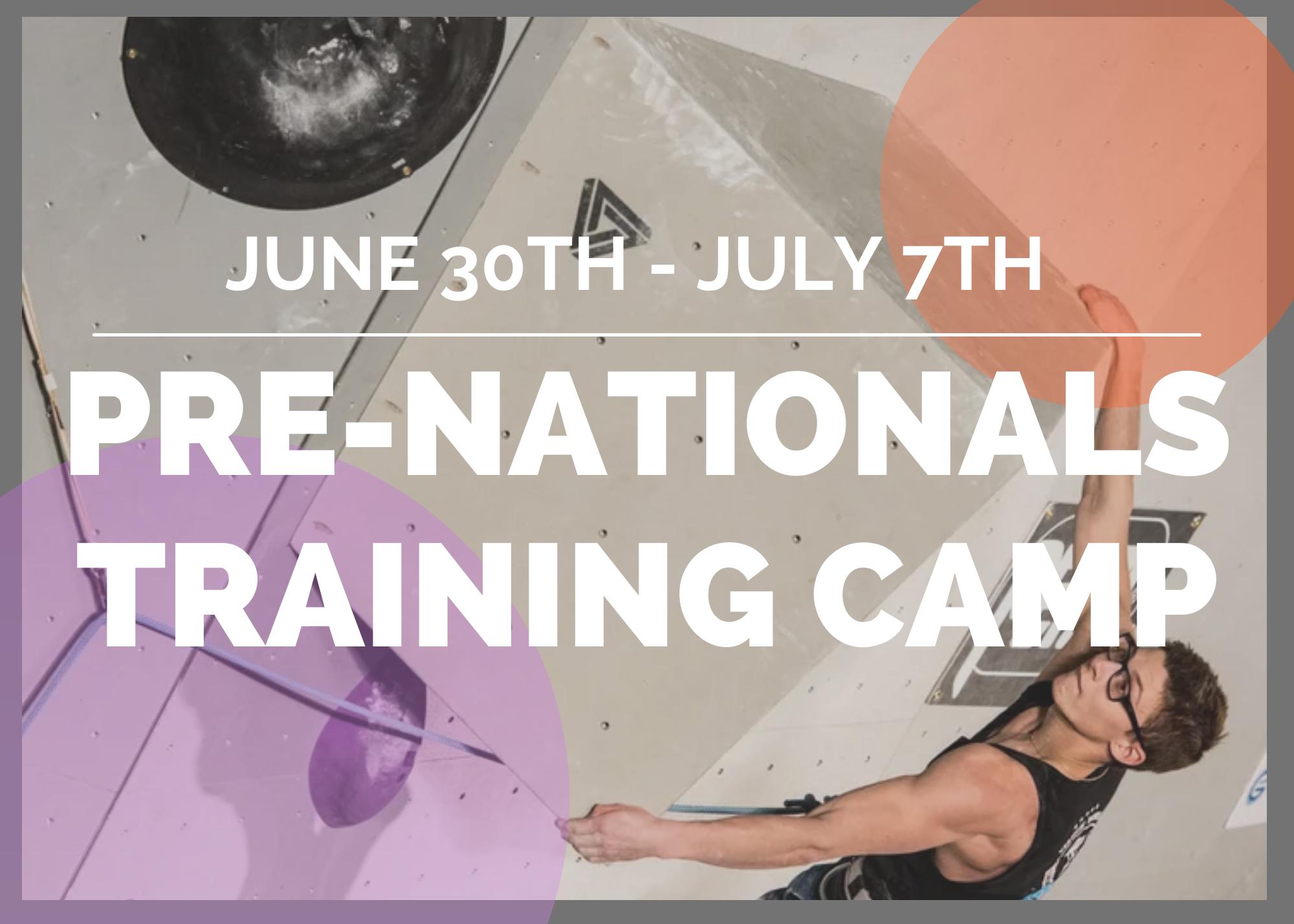Pre Nationals Training Camp