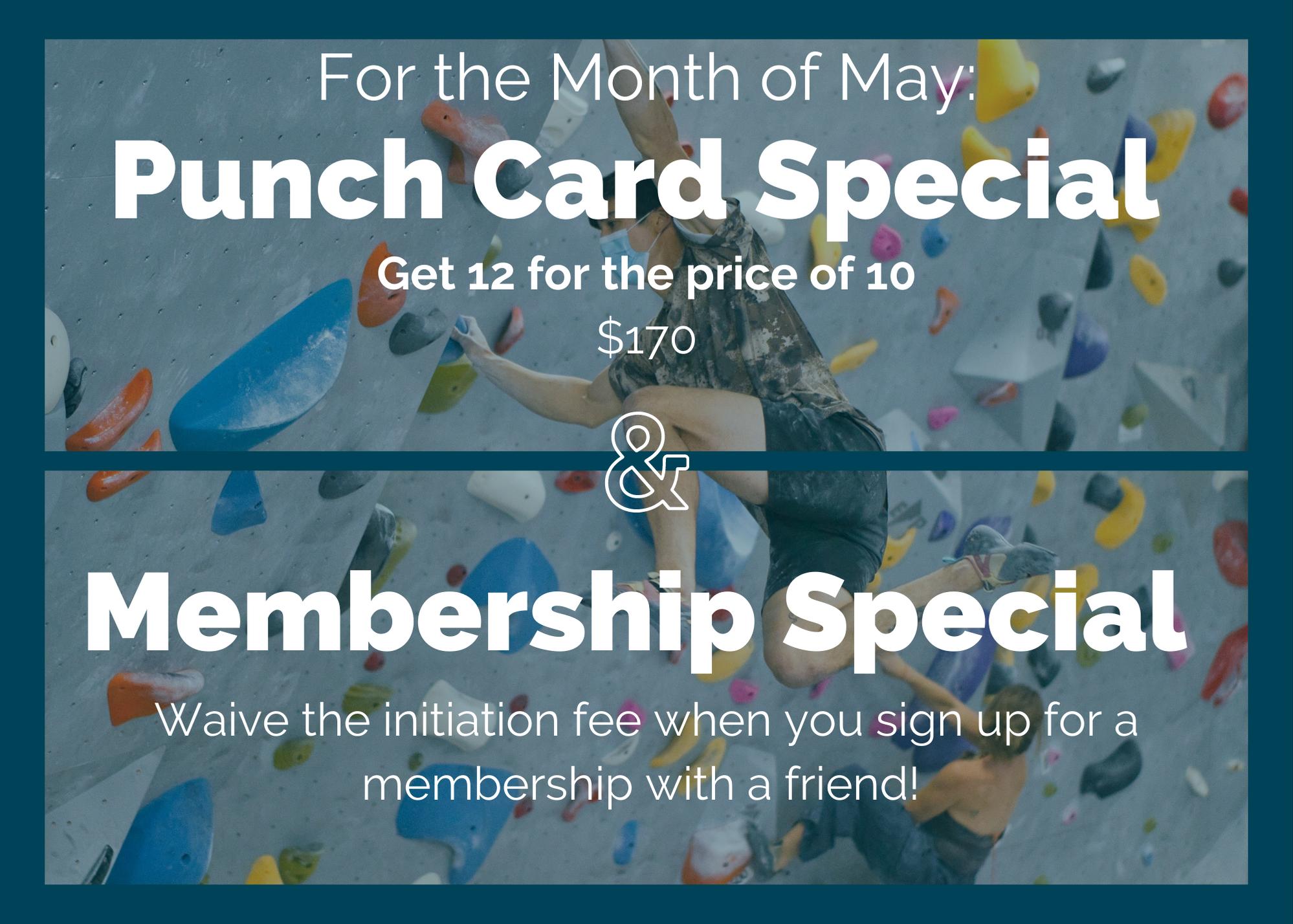 May Punchcard + Membership Sales